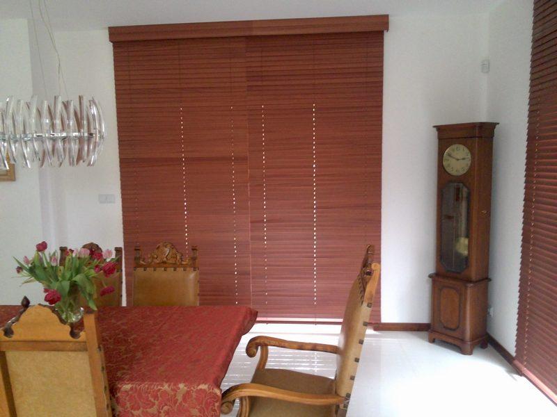 żaluzje drewniane, żaluzje bambusowe